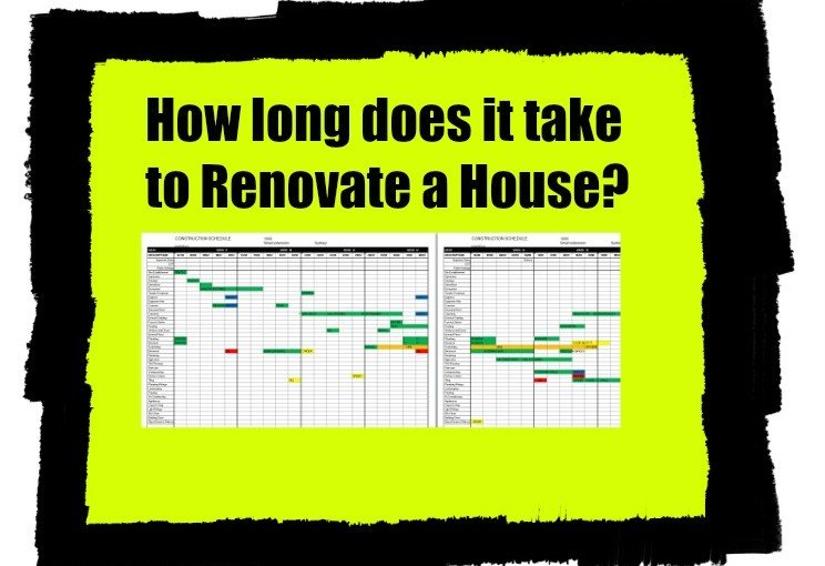 How long does it take to renovate a house? Renovation time calculator