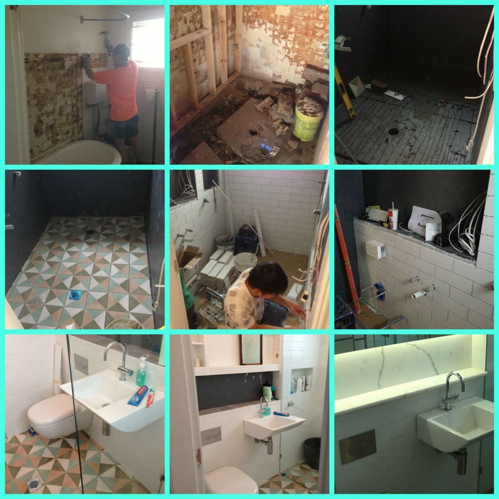 Bathroom renovation progress