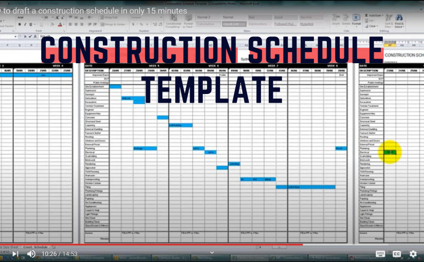 How to plan your project timeline with a Construction Schedule Template? (with download link)