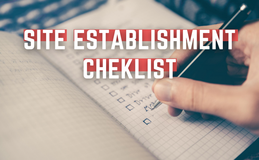 site establishment checklist