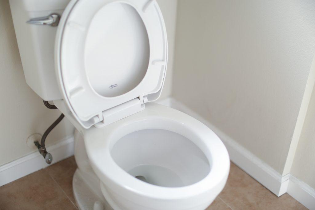 Unblocked toilet drain