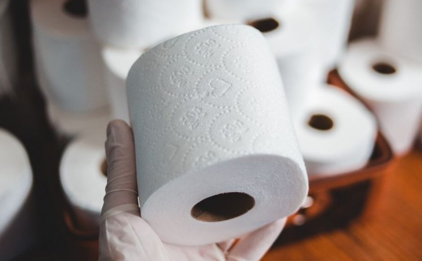 Picking a toilet paper